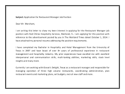 Cover Letters For Hospitality Management Ohye Mcpgroup Co