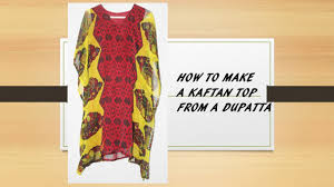 How To Make A Beautiful Kaftan Top Kurti From A