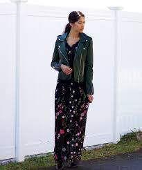 embroidered maxi leather jacket