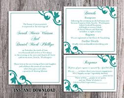 Invite Templates For Word Interesting DIY Wedding Invitation Template Set Editable Word File Instant