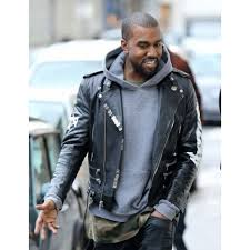 kanye west wears custom motorcycle jacket