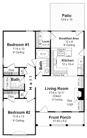 Small 2 Bedroom House Plans Two Bedroom Bungalow Design