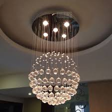 combination modern pendant light fixtures. Crystal Ball Drops Brief Pendant Light Lighting Combination Modern Circle Low Voltage K9 Lamp Fixtures T