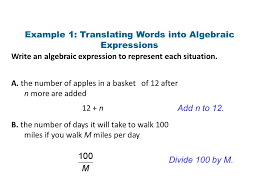 foundations for functions classify and order real numbers write an algebraic expression to represent each situation 3 1 translating words into