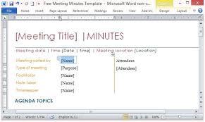 Word Meeting Notes Template Free Meeting Notes Template Word 5 Reinadela Selva