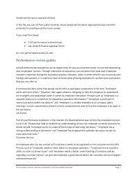 Employee Self Assessment Samples Job Interview Self Assessment
