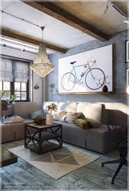Bike Painting Modern Eclectic Livingroom. Home Designs: How To Style A  White Brick Wall - Design