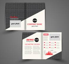 Corporate Flyer Design With Black And White Background Free Vector