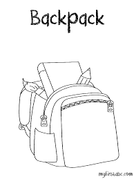 Small Picture Backpack Coloring Page My First ABC