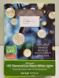 Mainstays Warm White Led Lights Lot Mainstays 50 Count Led Diamond Cut Warm White Lights