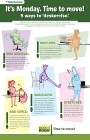 exercise in the office move it monday infographic