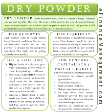 Personal Finance Model Dry Powder A Term Crucial To Investors Corporate And