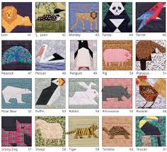 It's back! 53 animal quilt blocks to paper piece (+ giveaway ... & More animal quilt blocks from A Quilter's Ark Adamdwight.com