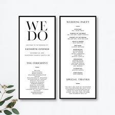 printable program templates minimalist wedding program templates printable minimal wedding ceremony program templates modern simple wedding program templates
