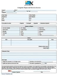 service call invoice template service call template free computer repair invoice excel