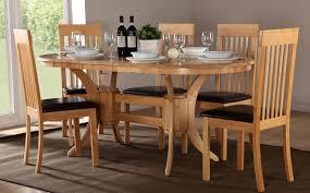 oval dining room sets for 6 sensational design table set all 0