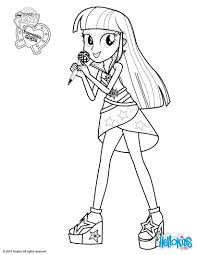 My Little Pony Equestria Girls Twilight Coloring Pages Get