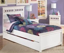 ashley furniture zayley twin size panel bed b131 with trundle storage unit series wonderland girls bedroom ashley furniture bedroom photo 2