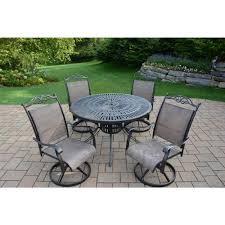 Internet 206805049 cascade coffee 5 piece aluminum outdoor dining set