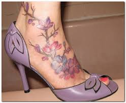 amazing flower vine tattoo for ankle photo 1