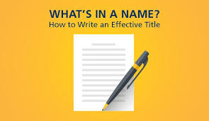 Strategies For Writing Effective Titles Part 1 Am Rounds
