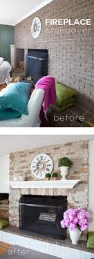 Diy Fireplace Makeover Ideas Airstone Fireplace Makeover On A Diy Budget Inmyownstyle