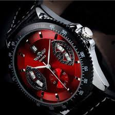 best skeleton watches for men online best skeleton watches for 2017 new mens sport red black leather date brand winner skeleton automatic mechanical army wrist watch for men best gifts top quality