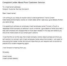 Letter For Customer Service Complaint Letter Poor Customer Service Sample Just Letter