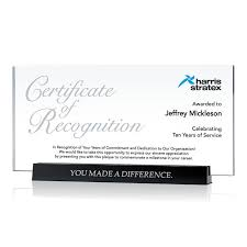 Certificate Of Recognition Wordings Long Service Certificate Of Recognition Plaque 576 4 Wording