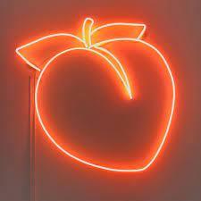 Aesthetic Neon Wallpaper Orange ...