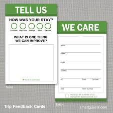 Restaurant Survey Cards Trip Feedback Comment Cards