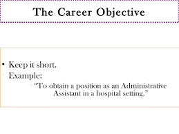 57 the career objective keep it short - Short Objective For Resume