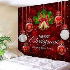 wall art merry christmas ball bell tapestry red w59 inch l51 inch on christmas wall art tapestry with 2018 wall art merry christmas ball bell tapestry red w inch l inch
