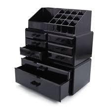 acrylic cosmetic organizer large 8 drawer makeup case storage jewelry holder box