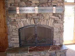 steel fireplace mantel