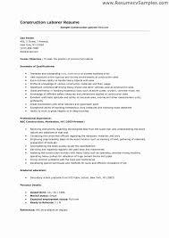 Construction Resume Objectives Canadianlevitra Com