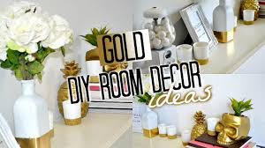 DIY Room Decor! GOLD | Tobie Hickey - YouTube