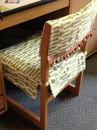 my roommate s mom made us these awesome desk chair covers she also made us pillows of the same pattern