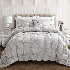 lush decor light gray bella comforter