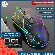 Chuột không dây gaming X9 Led đổi màu siêu đẹp pin sạc dùng cực trâu chỉnh  được dpi tương thích cho máy tính laptop pc - Chuột Máy Tính