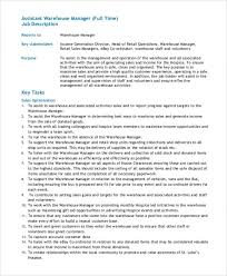 Assistant Warehouse Manager Job Description Fulfillment Manager Resume Nice Warehouse Manager Job Description