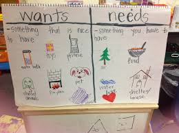 Needs And Wants Chart Wants And Needs Anchor Chart New Anchor Charts For A