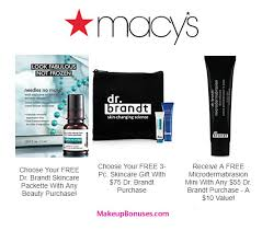 receive a free 4 pc gift with your 75 dr brandt purchase