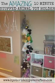 The 10 minute DIY stuffed animal holder.