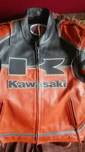 genuine kawasaki leather motorcycle jacket small
