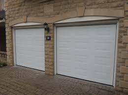 pair of white georgian singles 3 garage door designs