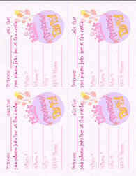Princess Invitations Free Template Princess Party Theme Crafts And Ideas At Allcrafts Net Free Crafts