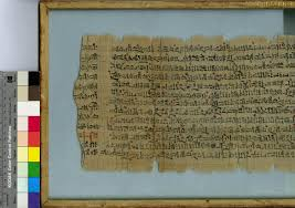 frame 4 hieratic magical cal text on verso and recto