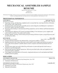 Sample Resume For Assembly Line Worker Download Production Resume