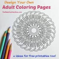 Small Picture Make and Print Your Own Adult Coloring Pages